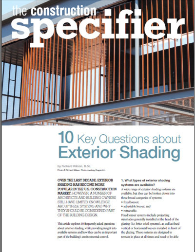 10 Key Questions about Exterior Shading