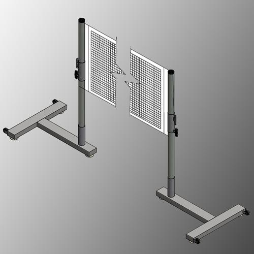 Portable Badminton Single Court Game System 502200