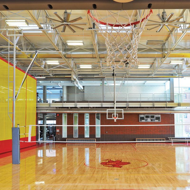 overhead volleyball system draper inc