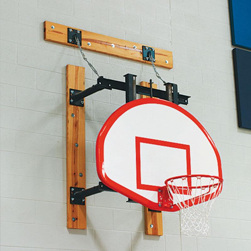 Stationary Wall Mounted Basketball Backstop - Wall Mounted Basketball Backstops :: Draper, Inc.