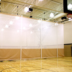 Roll-Up Gym Divider Curtains