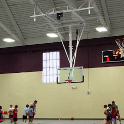 Gymnasium and athletic equipment draper inc Indoor basketball court ceiling height