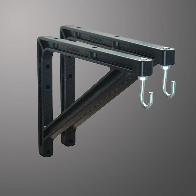 "10"" or 14"" (25 cm or 36 cm) Black Wall Brackets"