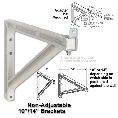 10 or 14  inch (254mm or 36cm) Wall Brackets (VScreen) picture