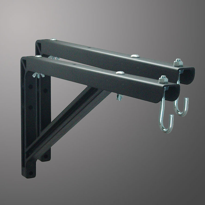 18 to 24 (46cm to 61cm) in Adjustable Wall Brackets (Black)