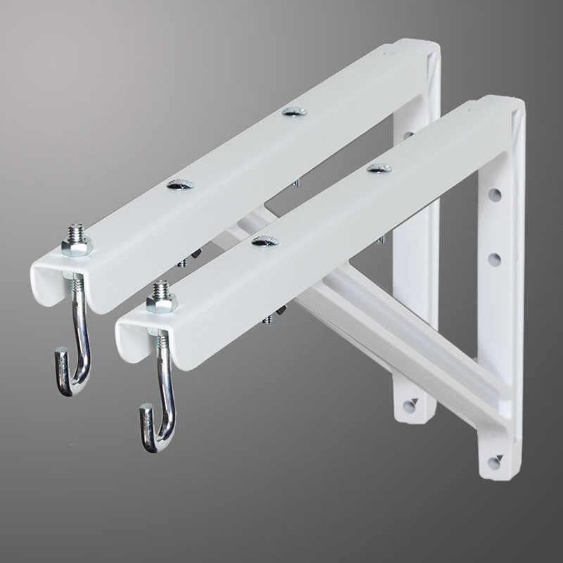 18 to 24 in (46cm to 61cm) Adjustable Wall Brackets (White)