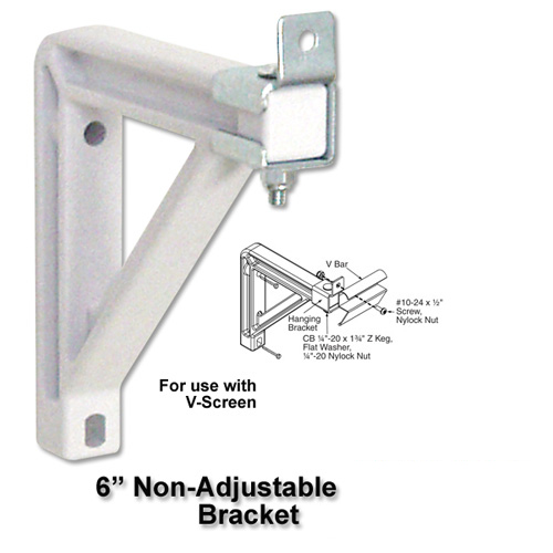 6 in Wall Brackets (VScreen-White) picture