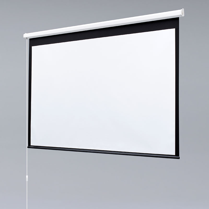 baronet electric projection screen draper inc endcaps form universal mounting brackets for easy installation just install the electric screen and plug the power cord into