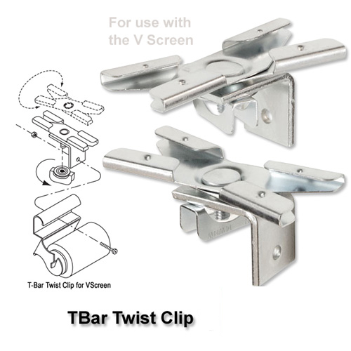 T-Bar Twist Clips (V Screen) picture