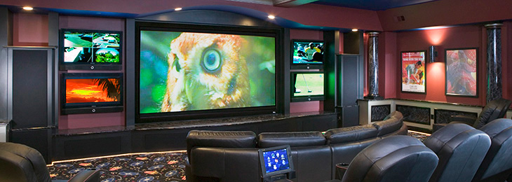 In home projection screen