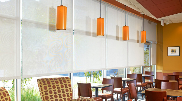 Motorized flexshade window shades draper inc for Contract decor international inc