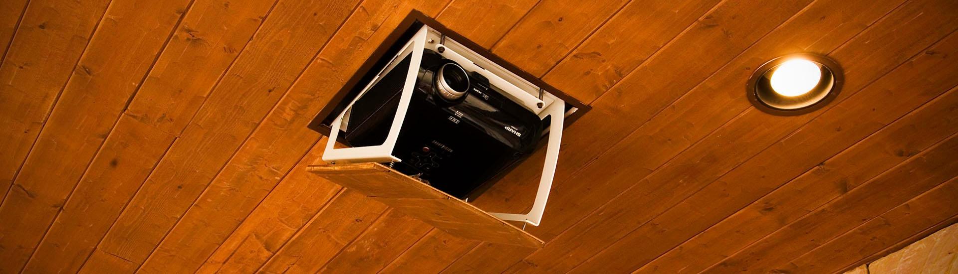 Phantom Projector Lift Residential Installation Dealer Harmony Interiors Asheville Nc